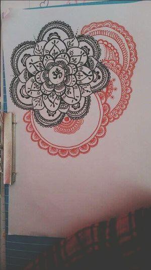 mandala. Mymade Drawing ✏ Blackandred Mandala Drawing