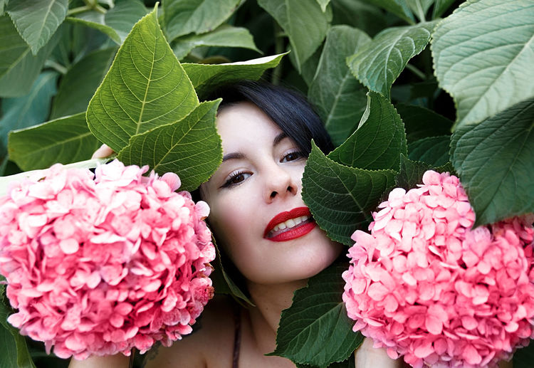 beautiful among hydrangeas , europe Girl Tattoo Woman Nice Beauty Cool Hipster Cute Dark Hair Young Nature Lifestyle People Human Portrait Poses Fashion Tattooed Modern Park SPAIN Europe Donostia Basque Country Euskal-herria Beautifull Beautiful Lovely Chic Awesome Goodly Fine Allure Bonny Charming Magician Enchanter Moraine Lingerie Mane French Style Pretty Hydragena Garden Summer Season  Stylish Red Lips Beauteous Pink Flower