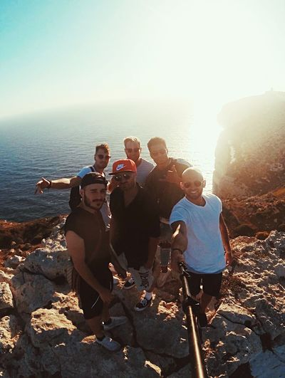 Boyz will be Boyz - Malta 🇲🇹 Friends Boys Will Be Boys Boyz Malta Group Of People Water Sea Leisure Activity Sky Nature Summer Road Tripping Lifestyles Sunlight Friendship Outdoors Holiday Land Summer Road Tripping