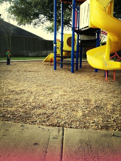 small kid, M.a.a.D playground.