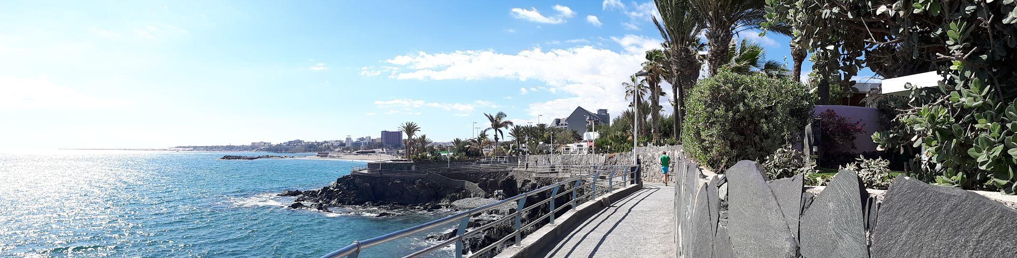 Playa De Las Burras Gran Canaria Panorama Panoramic Outdoors Sea