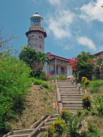 Architecture Built Structure Flower Green Color Ilocos Norte, Philippines  Lighthouse Lighthouse Lighthouses Low Angle View No People Philipinesfood Sky Tree