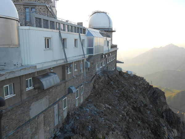 observatory Pic du midi Observatory Dome Telescope Sciences Astronomy Research Tourist Attraction  High Altitude Haze Pyrenees Sky Architecture Building Exterior