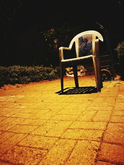 Night Park - Man Made Space Chair No People Outdoors Tree Nature Water Sky