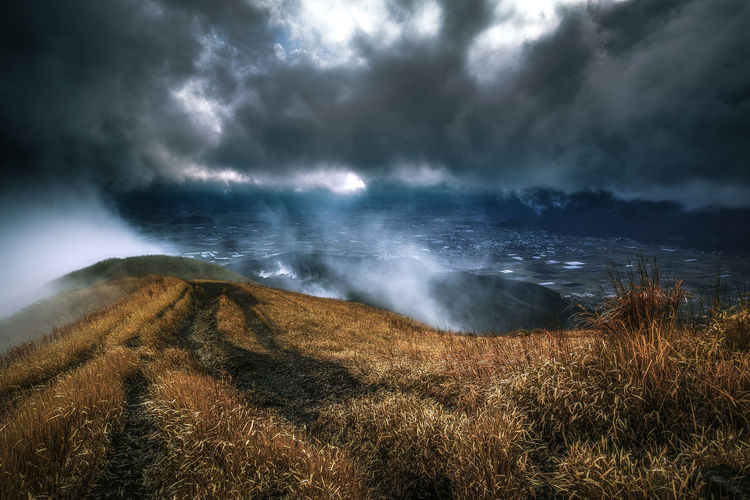 aso japan Cloud - Sky Clouds Japan Japan Photography Landscape Mist Mountain Sunlight