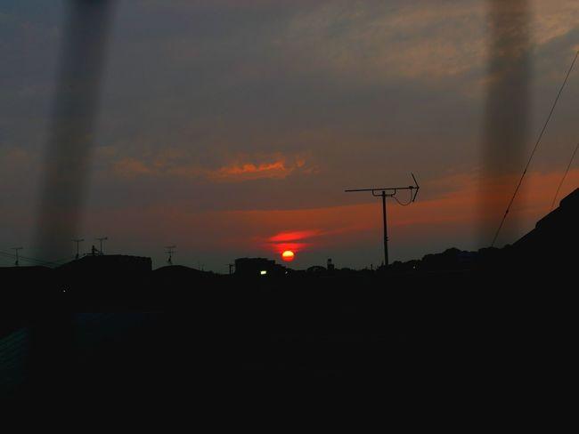 Burning sun Sun Sunset Twilight Twilight Sky Sky Beautiful