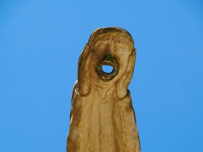 Sculpture With Sky In Background