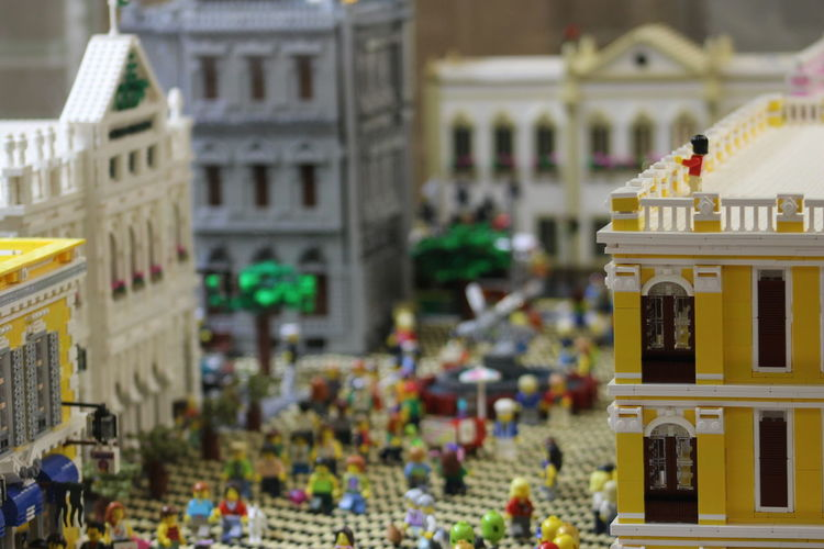 Macau, China Perspective Toys Architecture Building Exterior Built Structure City Close-up Day Focus On Foreground Lego Displays Legos Macau No People Outdoors Travel Destinations