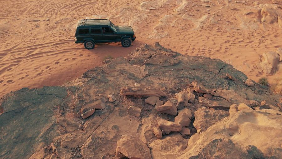 Wadi Rum, Jordan Wadi Rum Desert Sunset Jeep First Eyeem Photo