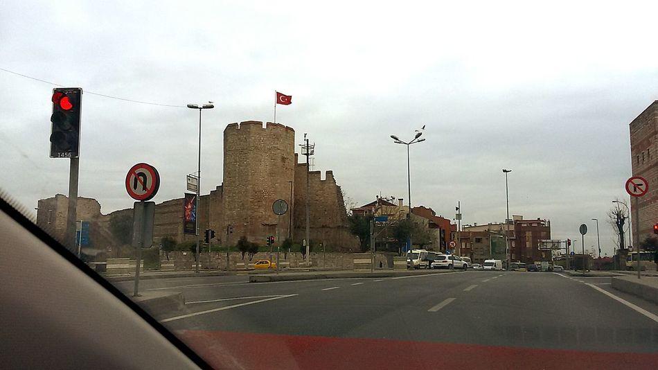 Walls Of Topkapi Fatih Istanbul City Turkey On The Way Showcase: December EyeEm Best Shots Old Buildings In The Car