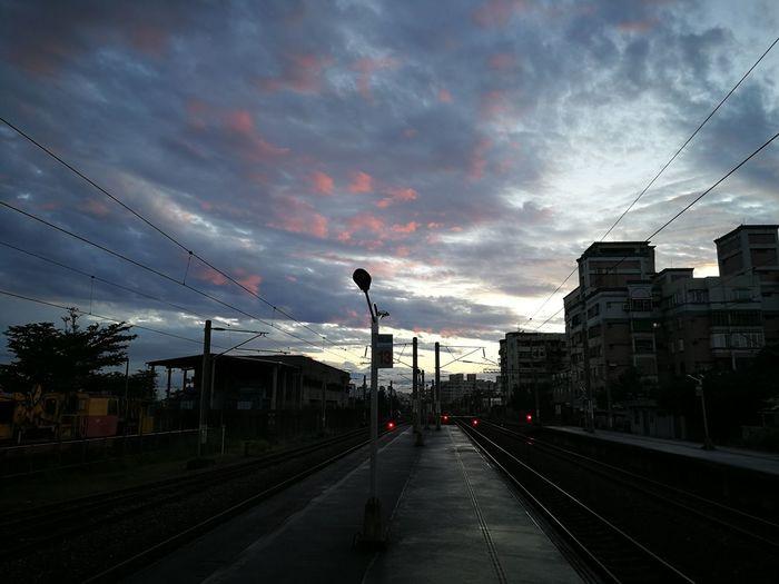 Cloud - Sky Sky Rail Transportation Railroad Track Sunset No People Huawei P10 Plus Huaweiphotography Huawei Photography