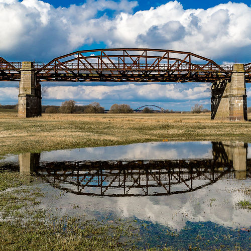 Bridge Engineering Historical Building Lake Outdoors Pond Railway Reflection Rippled River Standing Water Structure Water Waterfront