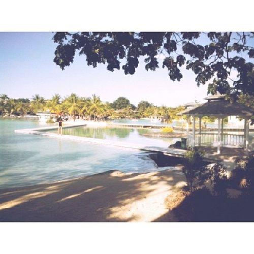 Man-made lagoon. Plantationbay Seemsnatural Gazebo Refreshing
