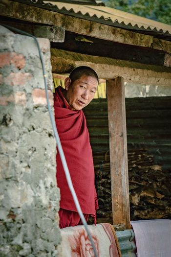Real People One Person Built Structure Looking At Camera Monk  Architecture Tawang Happiness Casual Clothing Arunachal Pradesh Day Standing Lifestyles Portrait Outdoors Young Adult People Monastery India Religion Tibetan  Tibetan Buddhism Tibet Buddhism Tibetan Culture EyeEmNewHere