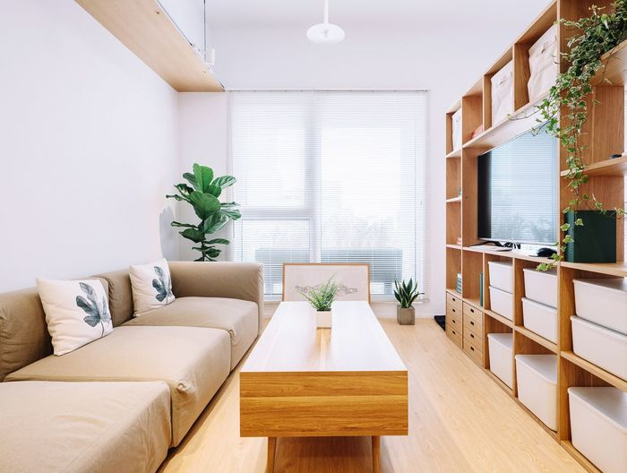 Home Showcase Interior Modern Living Room Apartment Furniture Home Interior Luxury Neat Wood - Material White Color
