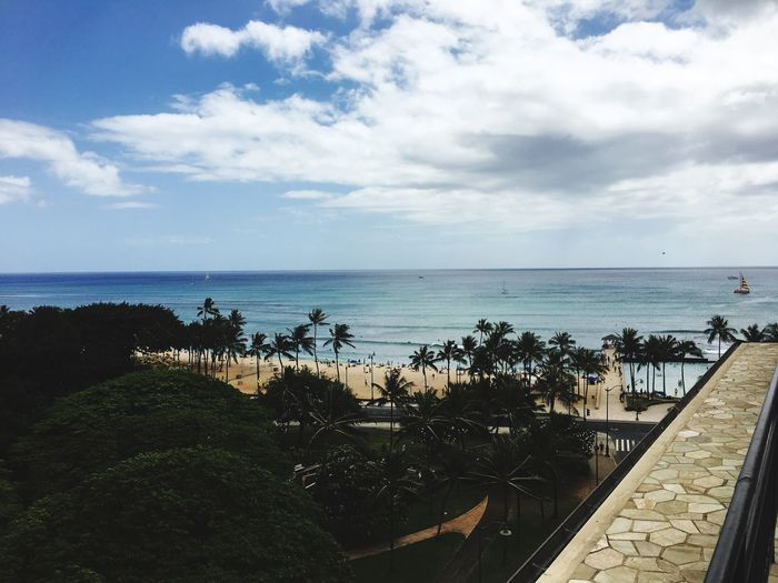 First shot in Waikiki Sky Cloud - Sky Water Sea Horizon Horizon Over Water Beach Outdoors Incidental People Scenics - Nature Nature