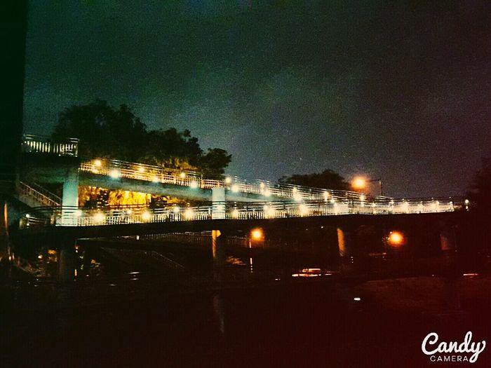 Riverside Beidge Yellowlight Night View Fall Season Seoul