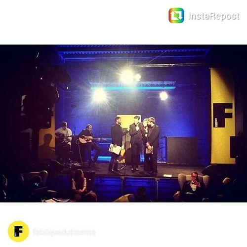 Sul palco di Fabrique con Ale Borghi. Oscarfabrique2016
