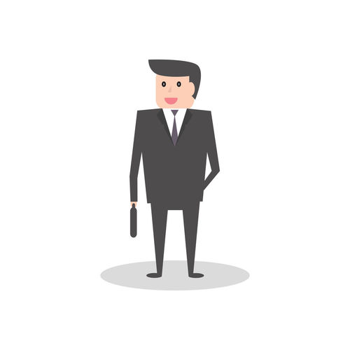 Business man in flat style cartoon character illustration Flat Job Avatar Business Graphic Icon Man Office Work Cartoon Character Design Face Human Body Part Illustration Male Manager People person Portrait Professional Standing Style Suit Young Adult