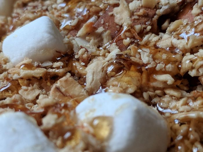 """""""Honey Bubble"""" """"no filters"""" Pears Apricot Sunflower Seeds Honey Marshmallows Granola Pecan Oats Close-up Breakfast Dried Fruit Close-up Sweet Food Food And Drink Nut - Food Almond Walnut"""
