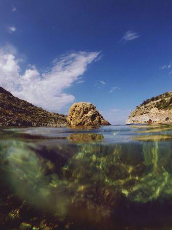 Rock Sea Under Water Gopro Hero3
