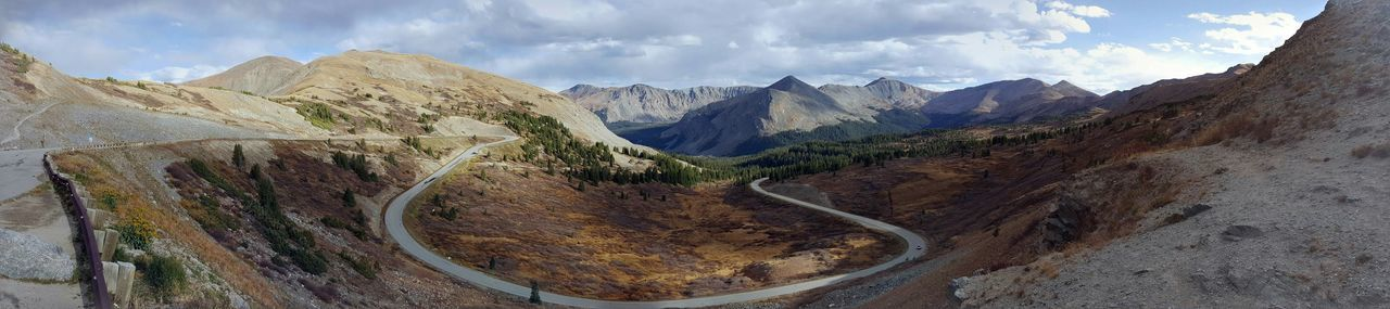 Panoramic View Of Mountain Road At Cottonwood Pass