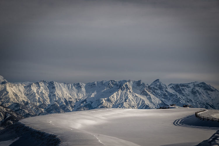 Cold Temperature Snow Winter Mountain Beauty In Nature Scenics - Nature Snowcapped Mountain Non-urban Scene Mountain Range Tranquil Scene Sky Nature No People Tranquility Landscape Environment White Color Day Cloud - Sky Mountain Peak