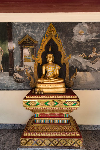 Bangkok Bangkok Thailand Bangkok Thailand. Buddha Architecture Art And Craft Belief Buddhism Buddhist Temple Building Built Structure Craft Creativity Human Representation Idol Male Likeness No People Ornate Place Of Worship Religion Representation Sculpture Spirituality Statue Wall - Building Feature