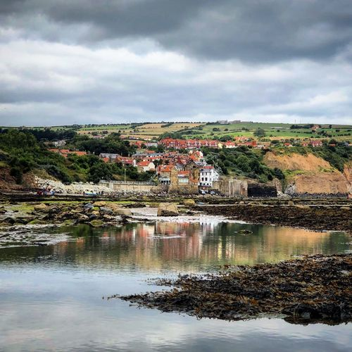 Fishing Village North Yorkshire Coast North Yorkshire Moors North Yorkshire Yorkshire Robin Hoods Bay Cloud - Sky Sky Water Architecture Built Structure Reflection Building Exterior