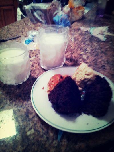 muffins with milk :)