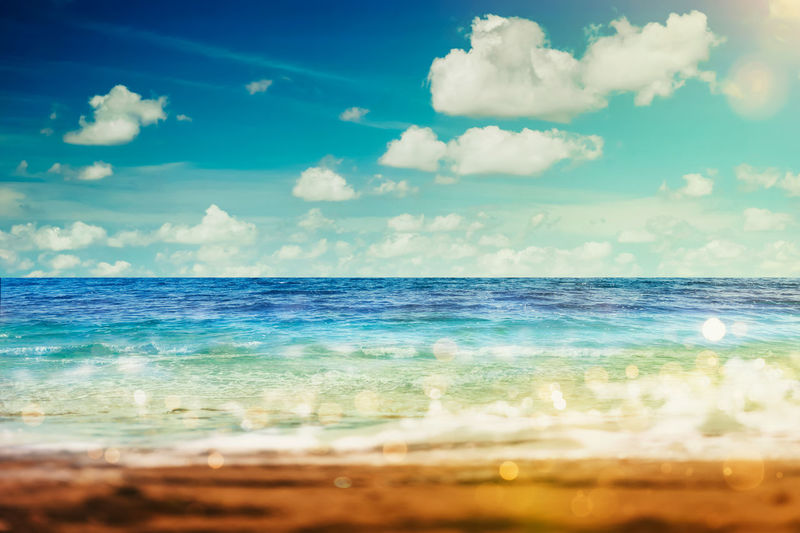 Beach Beauty In Nature Blue Cloud - Sky Day Horizon Horizon Over Water Idyllic Land Motion Nature No People Outdoors Scenics - Nature Sea Sky Tranquil Scene Tranquility Water Wave