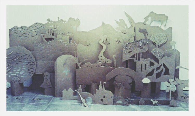 Fantastic Exhibition Composition Installation Cardboard