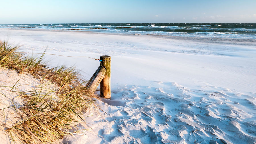Baltic Sea EyeEmNewHere Ostsee Beach Beauty In Nature Cold Temperature Day Horizon Over Water Nature No People Outdoors Sand Scenics Sea Shore Sky Tranquil Scene Tranquility Water Wave