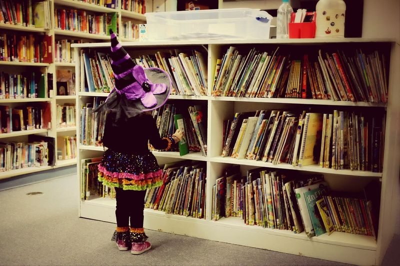 Little Bits Cute♡ Halloween Costumes Bookworm Happy Halloween Witchcraft  Reading School Toddlerlife Check This Out