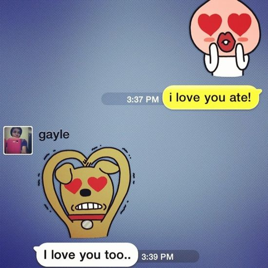 test ng wifi.. hihi.. Sweet Sister Ate Kakaotalk