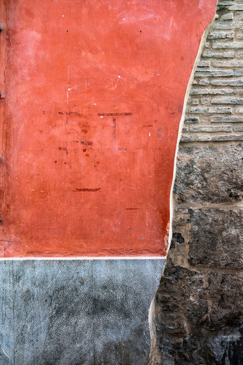Minimalist Architecture The Architect - 2018 EyeEm Awards Architecture Backgrounds Brown Building Exterior Built Structure Close-up Concrete Day Full Frame Minimalism Minimalist Photography  No People Old Outdoors Pattern Red Run-down Staircase Textured  Textured Effect Wall Wall - Building Feature Weathered