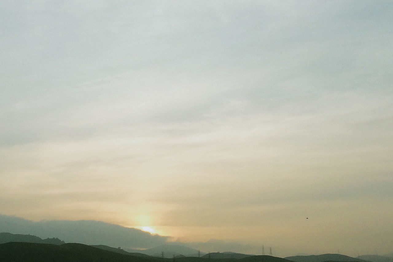 beauty in nature, nature, tranquility, scenics, sky, tranquil scene, no people, mountain, outdoors, sunset, cloud - sky, day