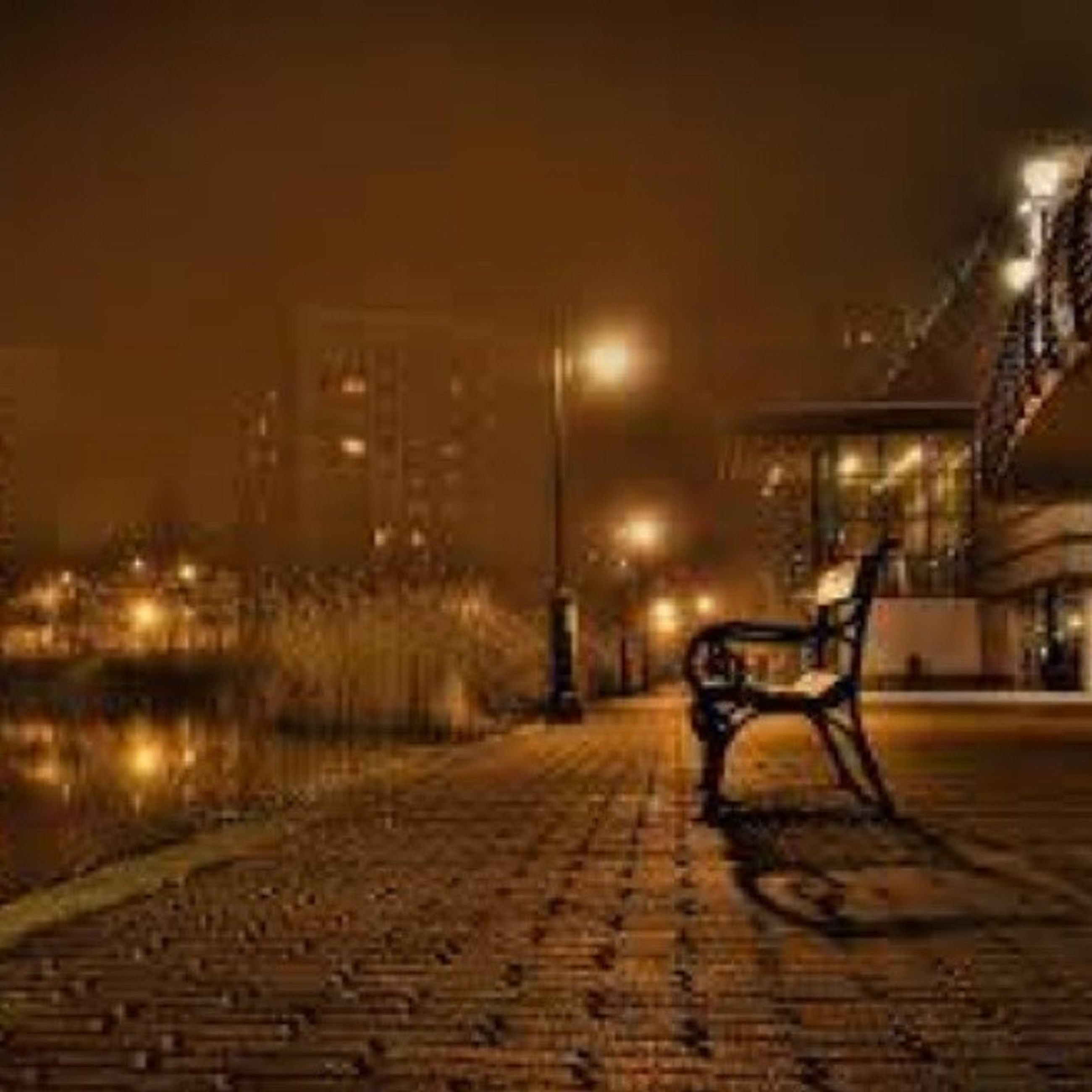 night, illuminated, the way forward, built structure, building exterior, street, architecture, street light, city, transportation, lighting equipment, empty, bicycle, road, electricity, sidewalk, diminishing perspective, outdoors, absence, cobblestone