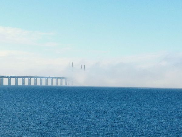 Oresund Greater Copenhagen Water Fog Sea Sky Day
