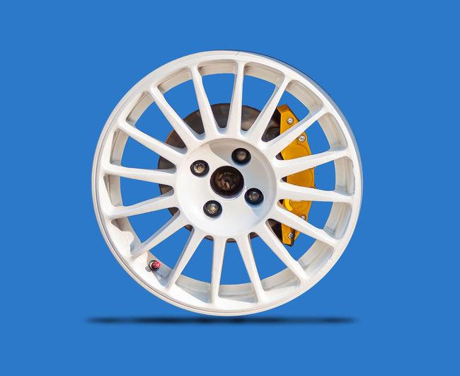 Car wheels on a