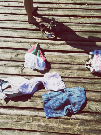 Undressed Undress Undressing Under The Sun On A Bridge