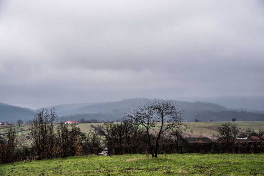 Hills Transylvania Trees Trip Clouds Country Side Isolated Village Sky Varciorog Village