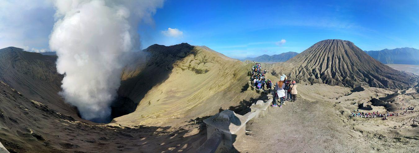Bromo Volcano Taking Photos Hello World Enjoying Life View On A Hike Volcano