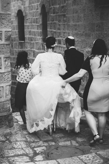 Jewish Wedding Blackandwhite Bride Groom Jaffa Jewish The Street Photographer - 2015 EyeEm Awards Unrecognizable People Wedding Wedding Dress