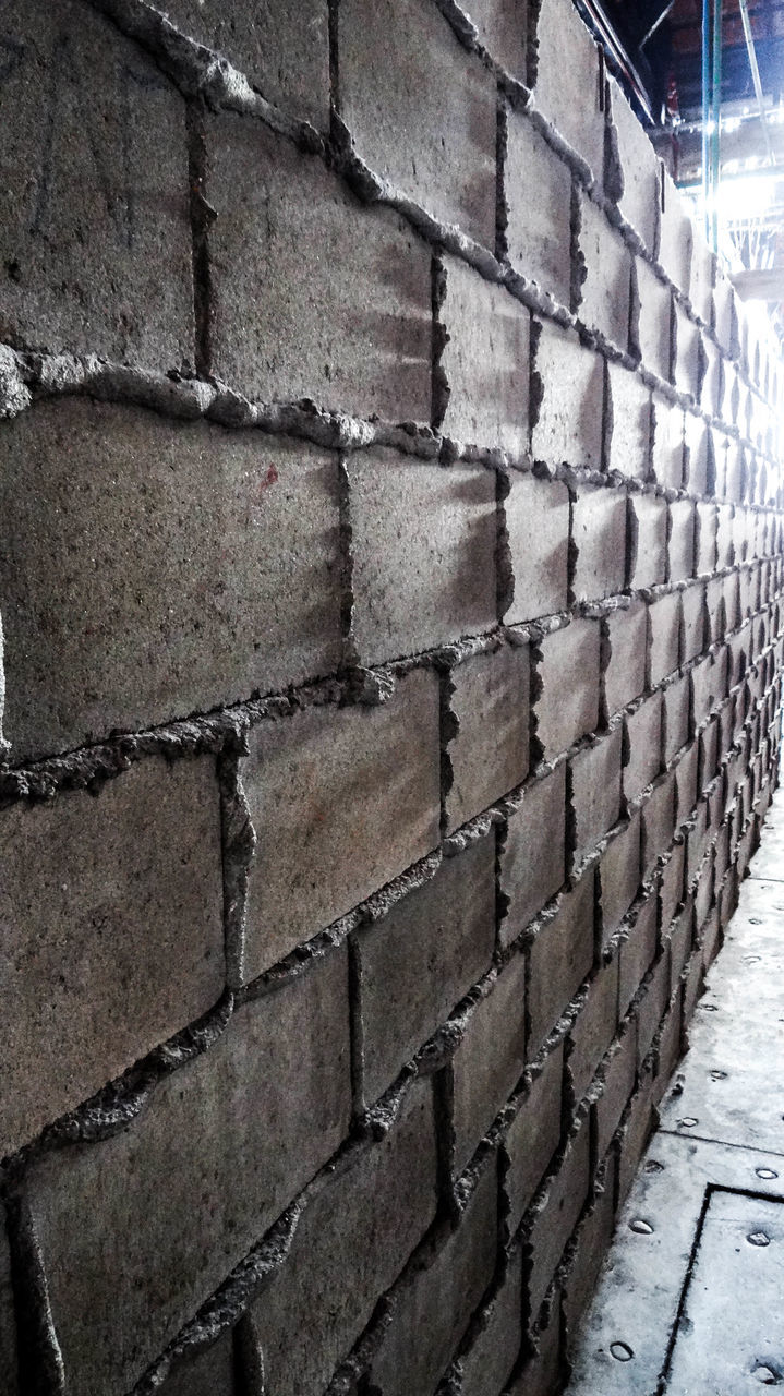 brick wall, architecture, built structure, no people, day, building exterior, textured, outdoors, close-up