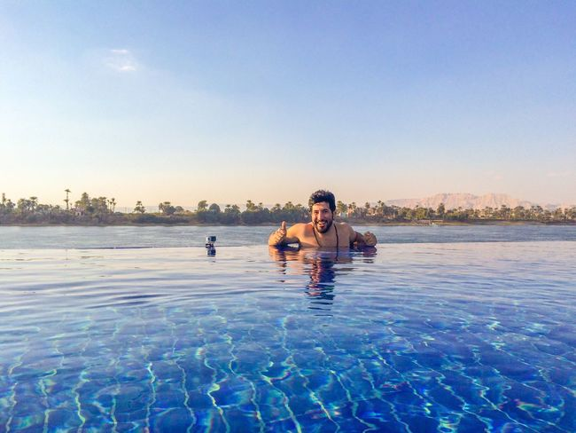 Peace And Quiet Swimming Escaping From The Heat Relaxing Enjoying Life Luxor Egypt Smile Nile River Egyptian
