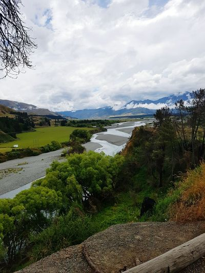 Canterbury New Zealand Green Color Mountain River Tree Nature Cloud - Sky Scenics Outdoors Lush - Description Water
