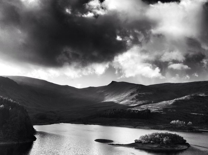 Breaking light on the fells Hills And Valleys Fells Black And White Collection  Black And White Beauty In Nature Black & White Cloud - Sky Sky Mountain Scenics - Nature Tranquil Scene Nature Beauty In Nature Landscape Environment No People Non-urban Scene Water Tree Outdoors