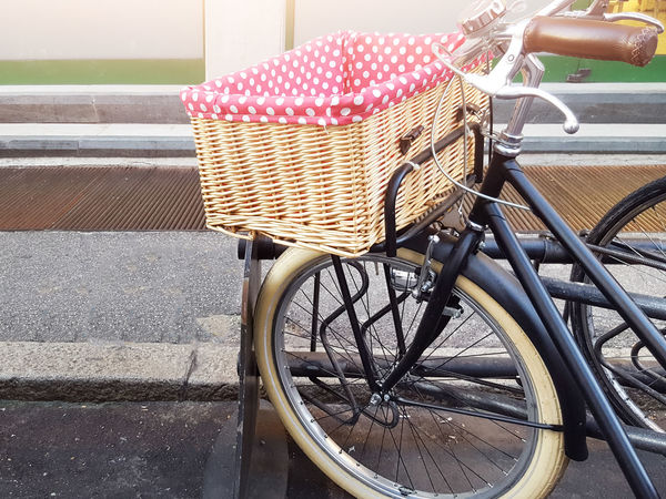 Bicycle Bicycle Basket Day Ecological Transports Land Vehicle Mode Of Transport No People Outdoors Transportation