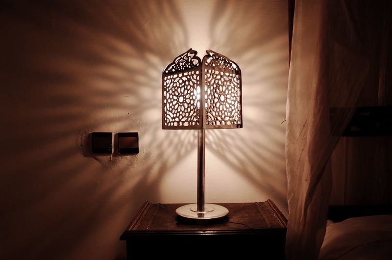 Illuminated Lighting Equipment Indoors  No People Home Interior Technology Floor Lamp Close-up Day Light And Shadow Light Shadow Culture Tradition Morocco Interior Design Night Relaxing Traveling